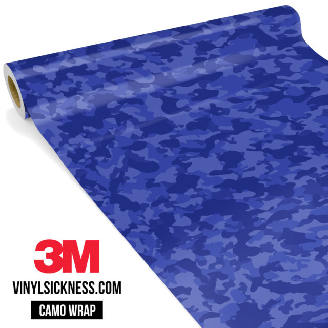 Jdm Premium Camo Royal Blue Vinyl Wrap Small