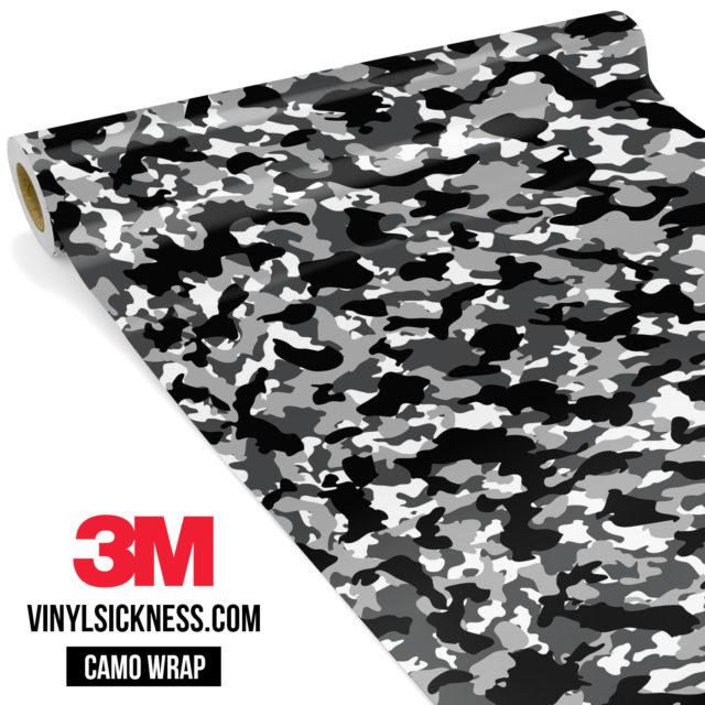 Jdm Premium Camo Snow Black Vinyl Wrap Small