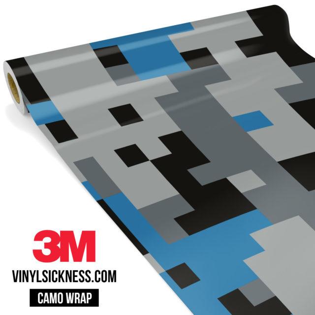 Jdm Premium Camo Steel Blue Digital Vinyl Wrap Large