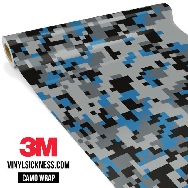 Jdm Premium Camo Steel Blue Digital Vinyl Wrap Regular
