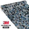 Jdm Premium Camo Steel Blue Digital Vinyl Wrap Small