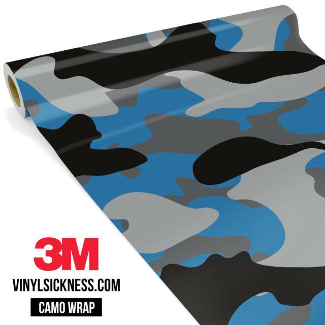 Jdm Premium Camo Steel Blue Vinyl Wrap Large