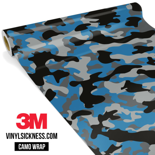 Jdm Premium Camo Steel Blue Vinyl Wrap Regular
