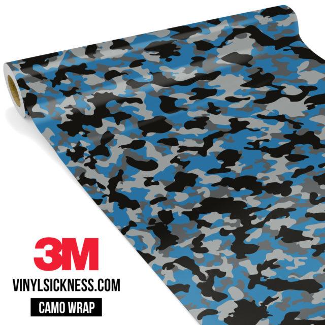 Jdm Premium Camo Steel Blue Vinyl Wrap Small