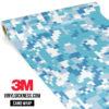 Jdm Premium Camo Turkish Blue Digital Vinyl Wrap Regular
