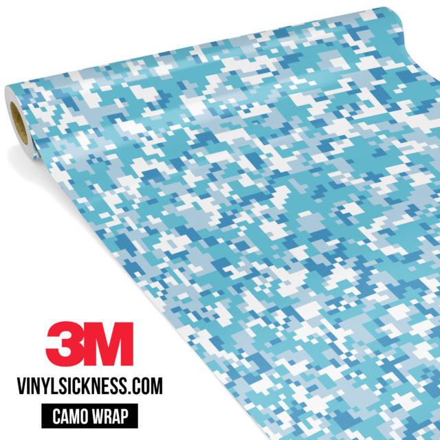 Jdm Premium Camo Turkish Blue Digital Vinyl Wrap Small
