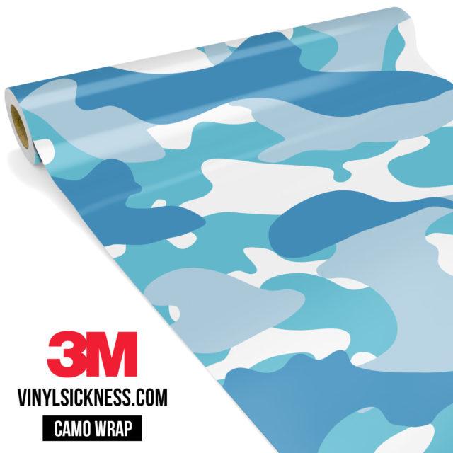 Jdm Premium Camo Turkish Blue Vinyl Wrap Large