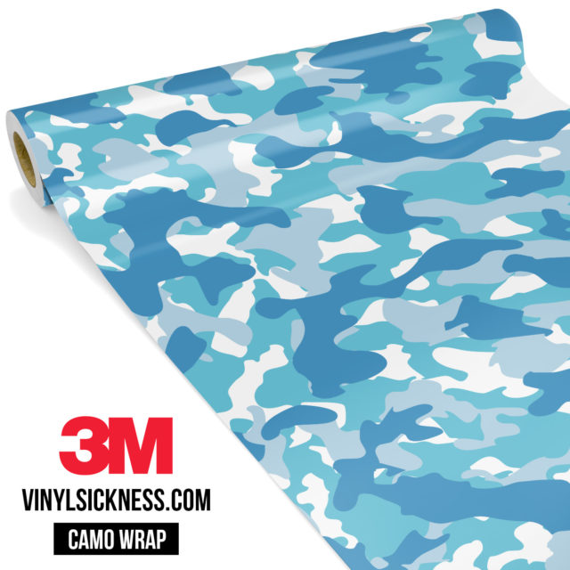 Jdm Premium Camo Turkish Blue Vinyl Wrap Regular
