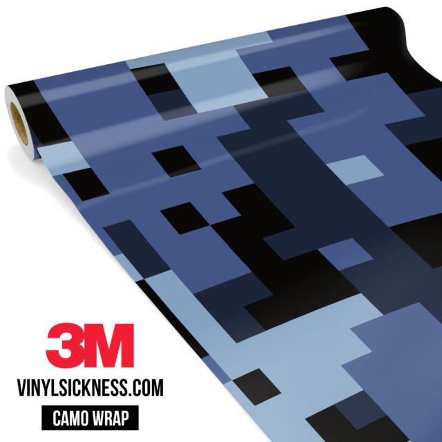 Jdm Premium Camo Ucla Blue Digital Vinyl Wrap Large