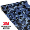 Jdm Premium Camo Ucla Blue Digital Vinyl Wrap Regular
