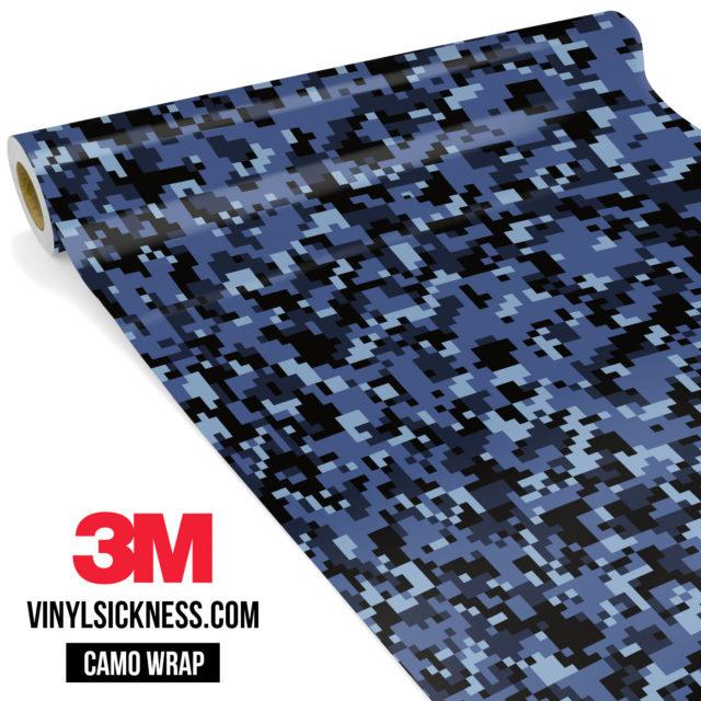 Jdm Premium Camo Ucla Blue Digital Vinyl Wrap Small