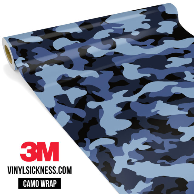 Jdm Premium Camo Ucla Blue Vinyl Wrap Regular