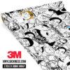 Jdm Premium Sticker Bomb Meme Vinyl Wrap Large