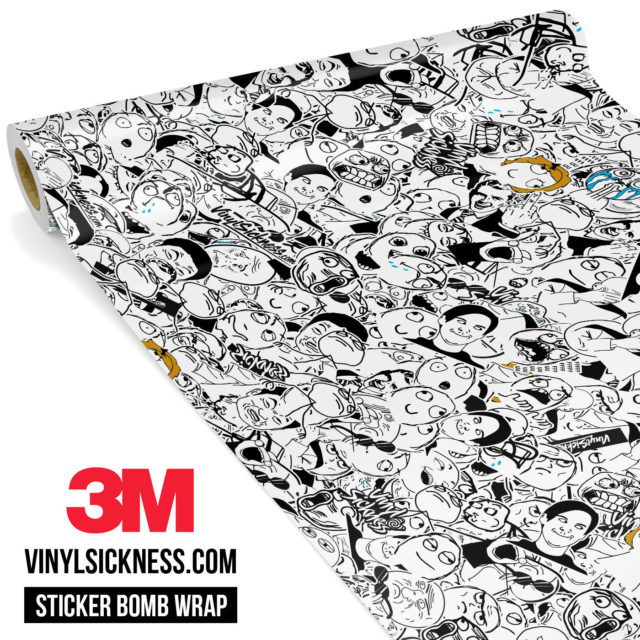 Jdm Premium Sticker Bomb Meme Vinyl Wrap Small