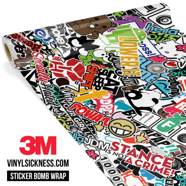 Jdm Premium Sticker Bomb Vs Vinyl Wrap Large