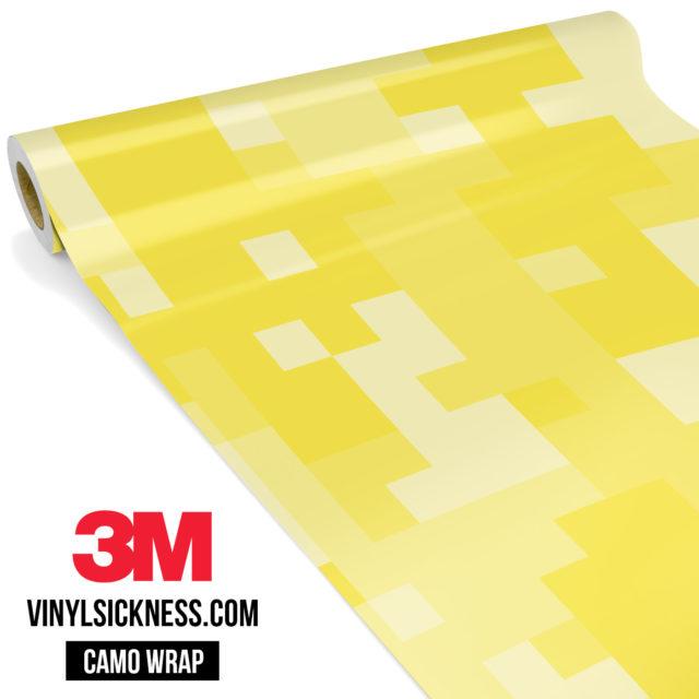 Laguna Yellow Digital Camo Large Vinyl Wrap Main