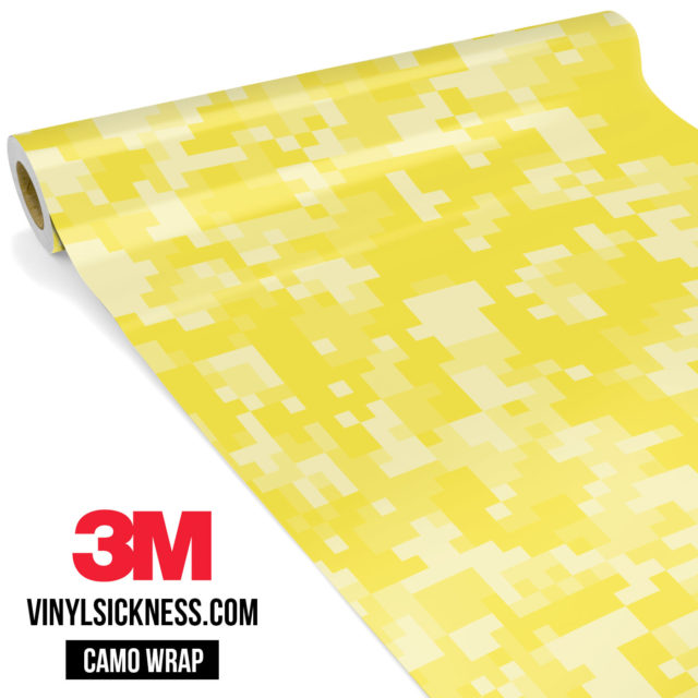 Laguna Yellow Digital Camo Regular Vinyl Wrap Main