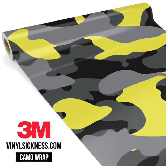 Lemon Charcoal Camo Large Vinyl Wrap Main