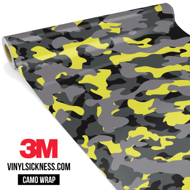 Lemon Charcoal Camo Regular Vinyl Wrap Main