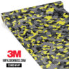 Lemon Charcoal Camo Small Vinyl Wrap Main