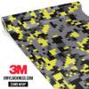 Lemon Charcoal Digital Camo Regular Vinyl Wrap Main