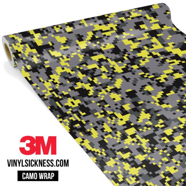 Lemon Charcoal Digital Camo Small Vinyl Wrap Main
