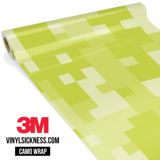 Lemon Shade Digital Camo Large Vinyl Wrap Main