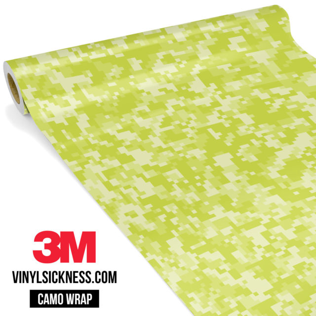 Lemon Shade Digital Camo Small Vinyl Wrap Main