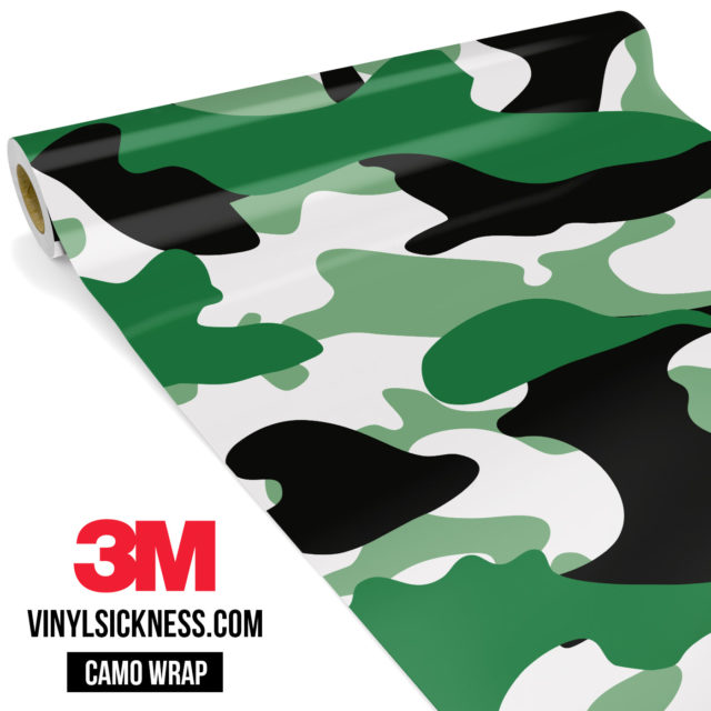 Light Jungle Green Camo Large Vinyl Wrap Main