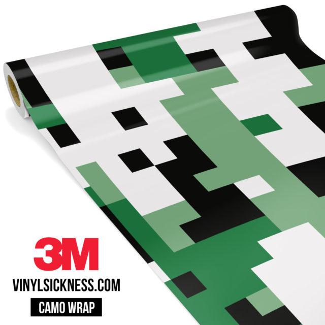 Light Jungle Green Digital Camo Large Vinyl Wrap Main