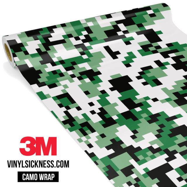 Light Jungle Green Digital Camo Regular Vinyl Wrap Main