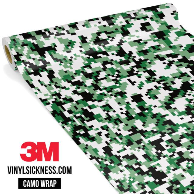 Light Jungle Green Digital Camo Small Vinyl Wrap Main