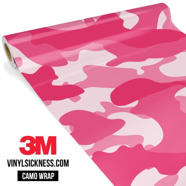 Light Magenta Camo Large Vinyl Wrap Main