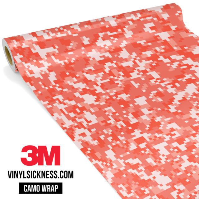 Light Salmon Digital Camo Small Vinyl Wrap Main