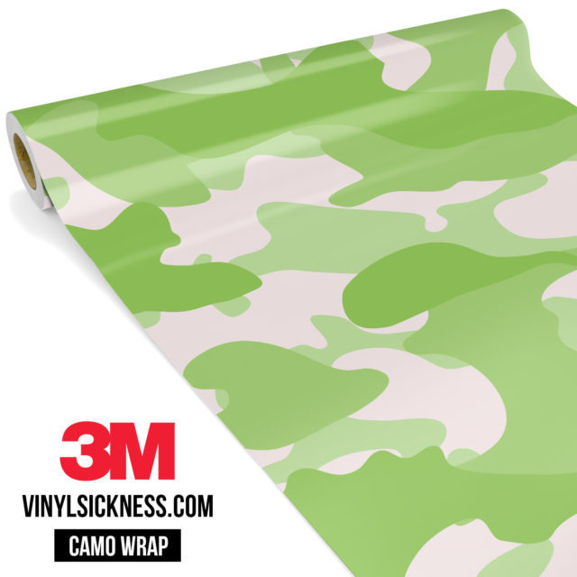 Lime Shade Camo Large Vinyl Wrap Main