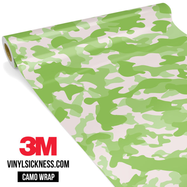 Lime Shade Camo Regular Vinyl Wrap Main