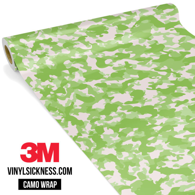 Lime Shade Camo Small Vinyl Wrap Main