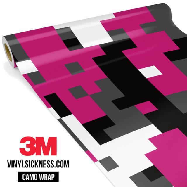 Midnight Magenta Digital Camo Large Vinyl Wrap Main