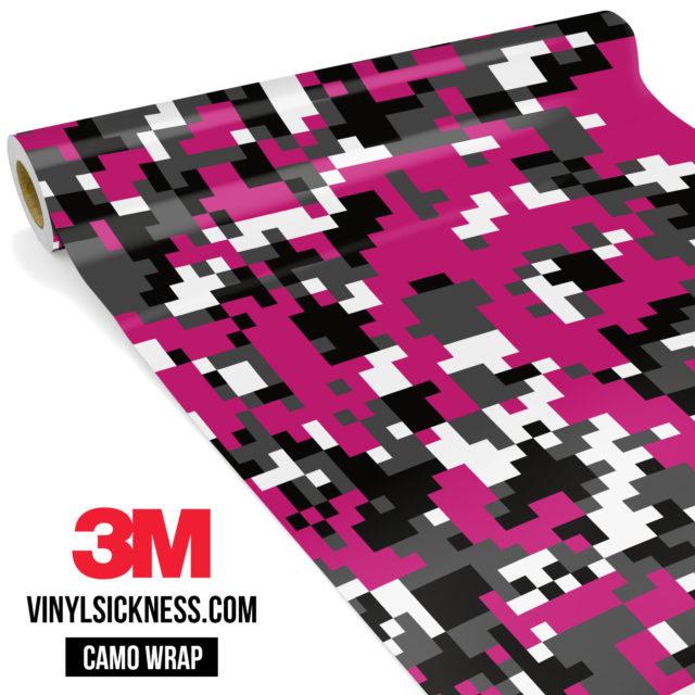 Midnight Magenta Digital Camo Regular Vinyl Wrap Main