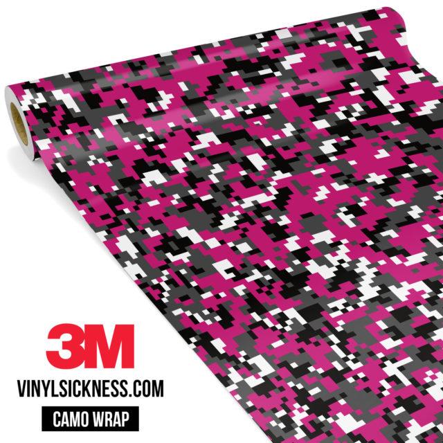 Midnight Magenta Digital Camo Small Vinyl Wrap Main