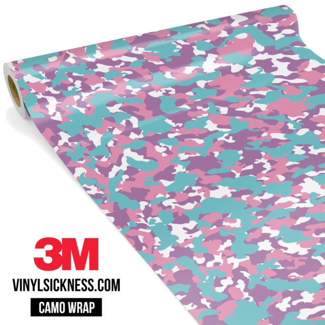 Mint Carnation Camo Small Vinyl Wrap Main