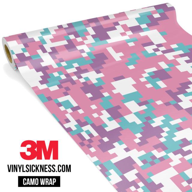 Mint Carnation Digital Camo Regular Vinyl Wrap Main