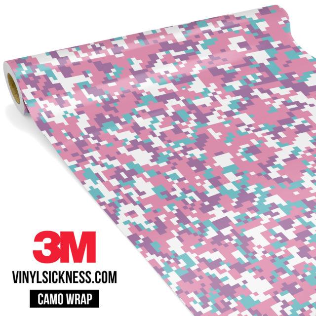 Mint Carnation Digital Camo Small Vinyl Wrap Main