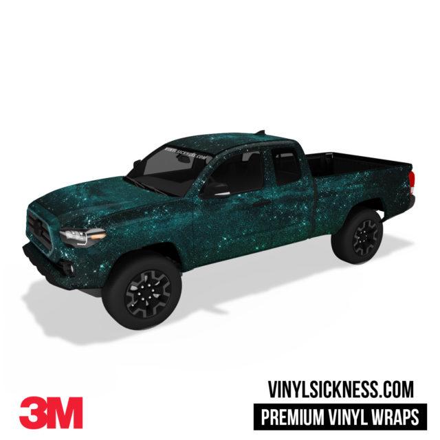 Mint Galaxy Vinyl Wrap Truck Body