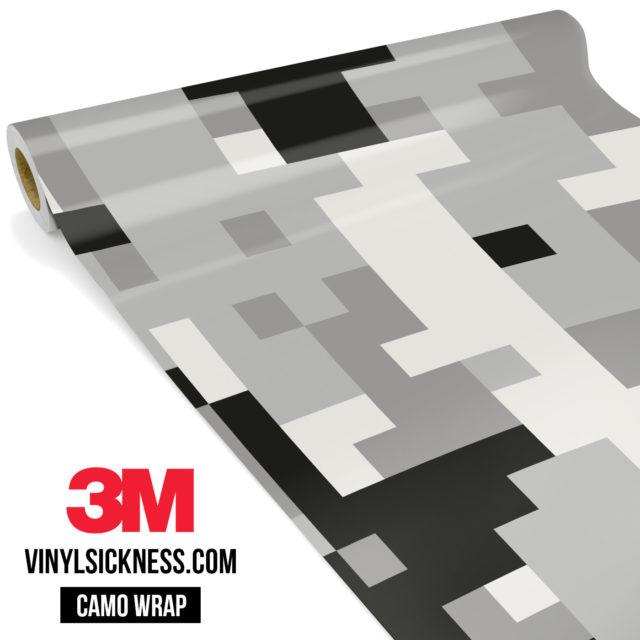 Mist Silver Digital Camo Large Vinyl Wrap Main