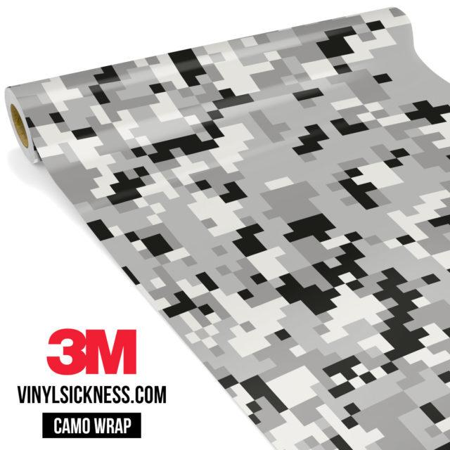Mist Silver Digital Camo Regular Vinyl Wrap Main