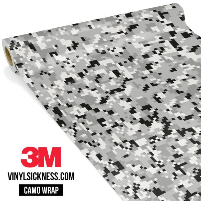 Mist Silver Digital Camo Small Vinyl Wrap Main