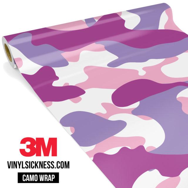Mulberry Pink Camo Large Vinyl Wrap Main