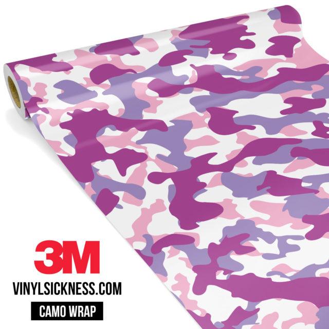 Mulberry Pink Camo Regular Vinyl Wrap Main