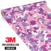 Mulberry Pink Digital Camo Regular Vinyl Wrap Main